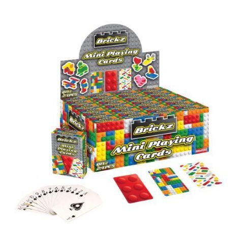 24 x Packs Of Brickz Mini Playing Cards - Wholesale Bulk Buy Party Bag Fillers